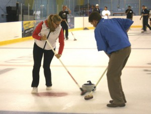 Open house action with the Palmetto Curling Club